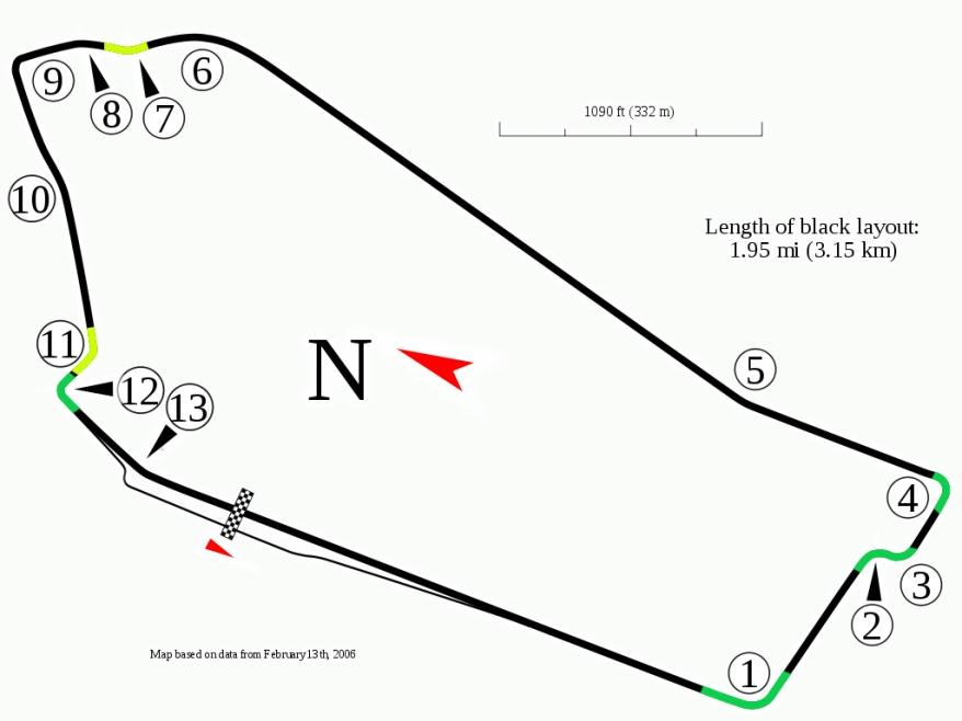 Sandown_(Australia)_track_map